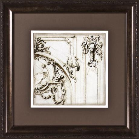 "Archway Details I Print Under Glass 19 1/2"" Square Wall Art"