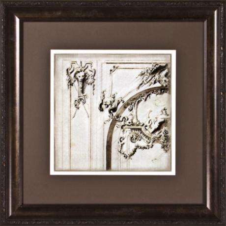 "Archway Details II Print Under Glass 19 1/2"" Square Wall Art"
