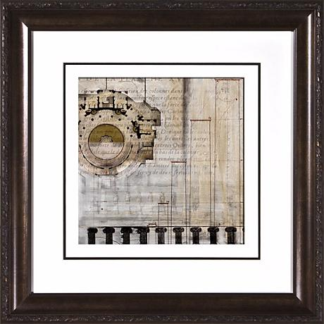 "Architectural Details I Under Glass 19 1/2"" Square Wall Art"