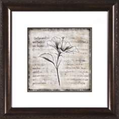 "Charcoal Impressions I Under Glass 19 1/2"" Square Wall Art"