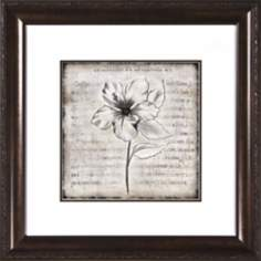 "Charcoal Impressions II Under Glass 19 1/2"" Square Wall Art"