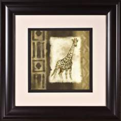 "Giraffe Print Under Glass 21"" Square Wall Art"