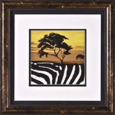 "African Tree II Print Under Glass 17"" Square Wall Art"