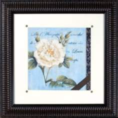 "Vintage Rose II Print Under Glass 21"" Square Wall Art"
