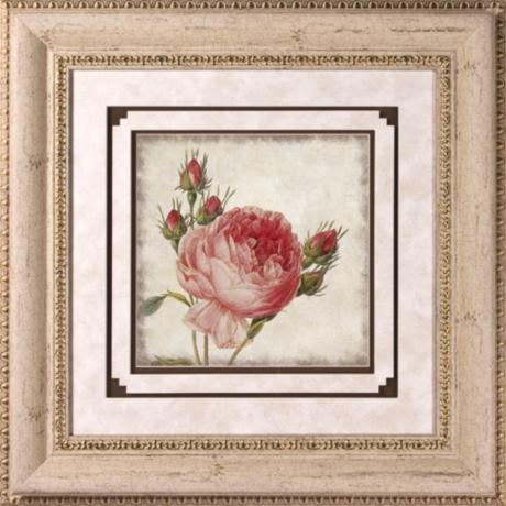 "Close Up Rose II Print Under Glass 22"" Square Wall Art"
