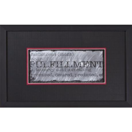 "Fulfillment Black Frame 22"" Wide Wall Art"