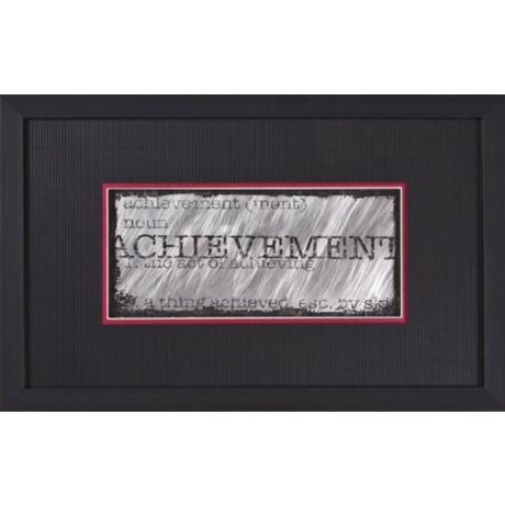 "Achievement Black Frame Print 22"" Wide Wall Art"
