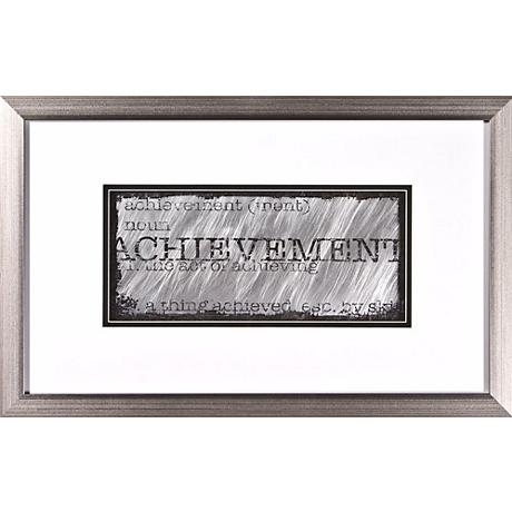 "Achievement Silver Frame Print 22"" Wide Wall Art"