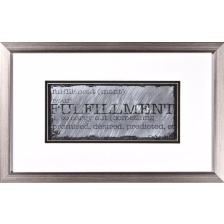 "Fulfillment II Silver Frame 22"" Wide Wall Art"