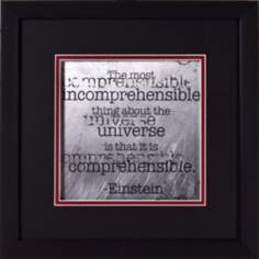 "Einstein Quotes I 15"" Square Wall Art"