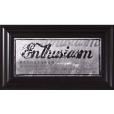 "Enthusiasm Black Frame 22"" Wide Wall Art"