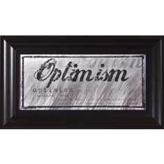 "Optimism Black Frame 17"" Wide Wall Art"