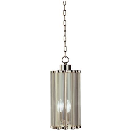 Cole Polished Nickel Glass Rod Pendant Chandelier