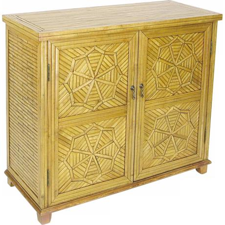 Bamboo Lacquered Finish Cabinet