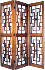 Red Chamber Screen Room Divider
