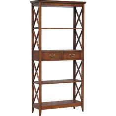 Eiffel Walnut Stained Traditional Accent Bookcase