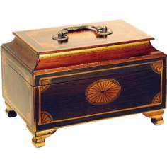 Golden Accents Hand-Painted Wood Jewelry Box