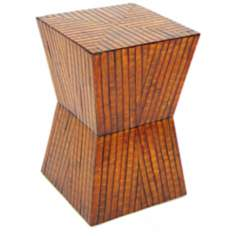 "Parquet Bamboo 20"" High Stool"