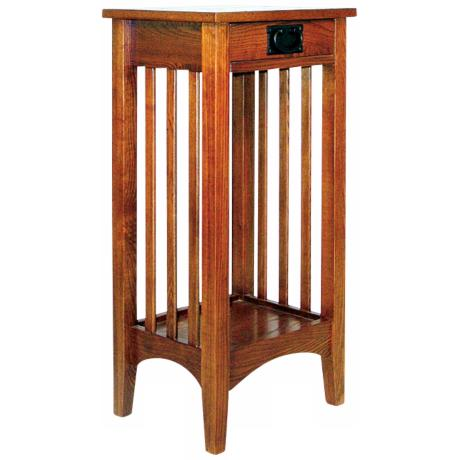 Hugo Red Oak Wood Plant Stand