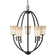 Hinkley Valley Collection Five Light Dome Chandelier