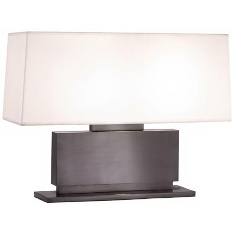 Sonneman Plinth Black Brass Table Lamp