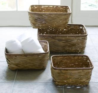 Eco-friendly bamboo basket set at LampsPlus.com
