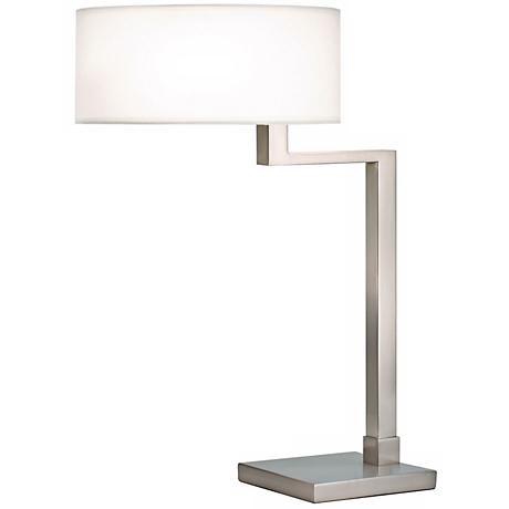 Sonneman Quadratto Satin Nickel Finish Swing Table Lamp