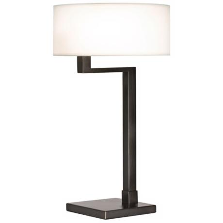 Sonneman Quadratto Black Brass Finish Swing Table Lamp