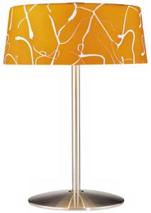 George Kovacs Graffiti Amber Glass Table Lamp
