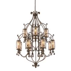 "Valais Collection 43"" Wide Large Wrought Iron Chandelier"