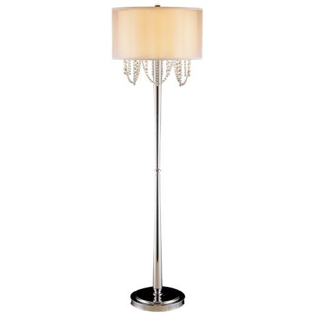 "Fantasy Collection Chrome and Glass 55 1/2"" High Floor Lamp"