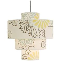 "Lights Up! Kimono Deco 21"" Wide Pendant Light"