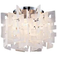 "Numero 20"" Wide Eight Light Ceiling Light Fixture"