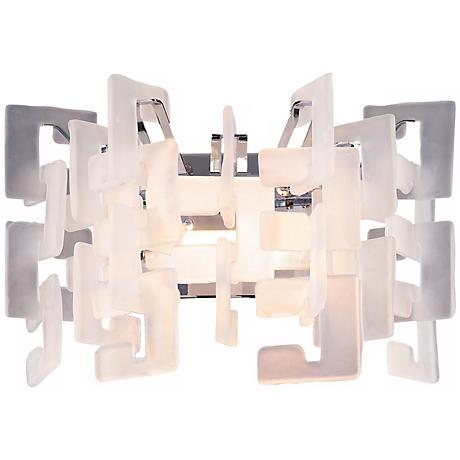 "Numero 16"" Wide One Light Wall Sconce"