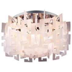 "Numero 28"" Wide Flushmount Ceiling Light Fixture"