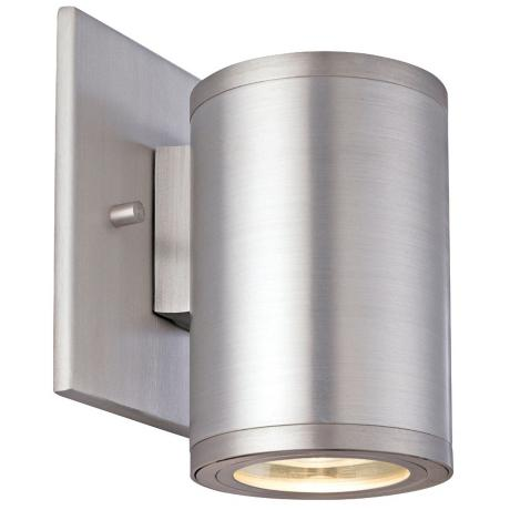 "Silo Satin Aluminum 5"" High ADA Outdoor Wall Light"