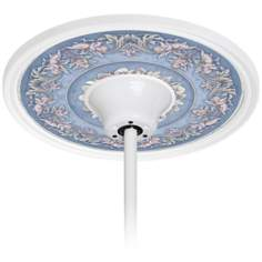 "Camelot Manor Sky 6 1/2"" Opening White Ceiling Fan Medallion"