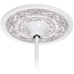 "Camelot Manor Mist 6 1/2"" Opening White Fan Medallion"