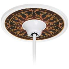 "Tracery Jewels 6 1/2"" Opening White Ceiling Fan Medallion"