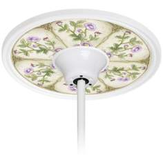 "English Garden Lavender 6 1/2"" Opening White Fan Medallion"