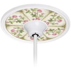 "English Garden Pink  6 1/2"" Opening White Fan Medallion"