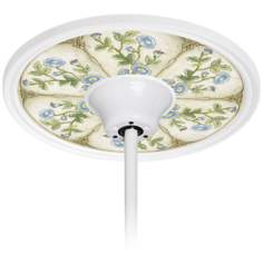 "English Garden Sky 6 1/2"" Opening White Fan Medallion"