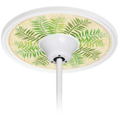 "Gentle Fern 6 1/2"" Opening White Ceiling Fan Medallion"