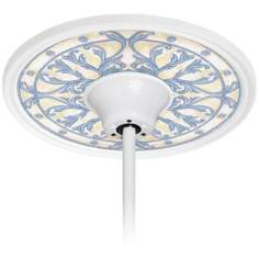 "French Villa 6 1/2"" Opening White Ceiling Fan Medallion"