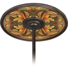 "Etruscan Sunset 6 1/2"" Opening Bronze Ceiling Fan Medallion"
