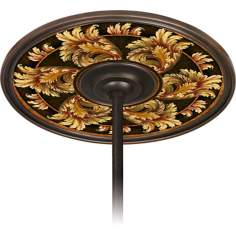 "Corinthian Jewel 6 1/2"" Opening Bronze Ceiling Fan Medallion"