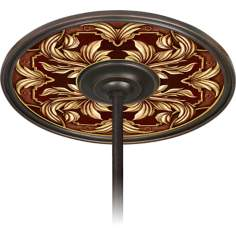 "Etruscan Wine 6 1/2"" Opening Bronze Ceiling Fan Medallion"