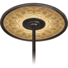 "Tracery Spice 6 1/2"" Opening Bronze Ceiling Fan Medallion"