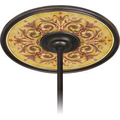 "Tuscan Wine 6 1/2"" Opening Bronze Ceiling Fan Medallion"