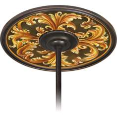 "Acanthus Regal 6 1/2"" Opening Bronze Ceiling Fan Medallion"